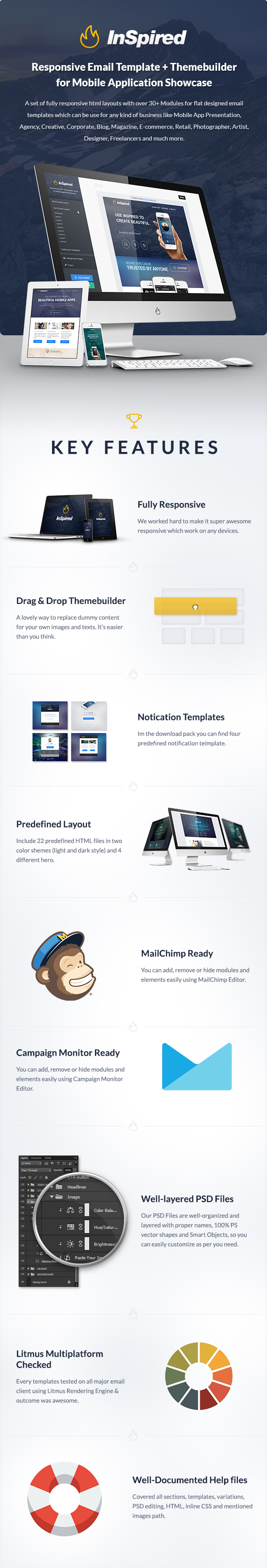 Inspired - Responsive Email + Themebuilder Access