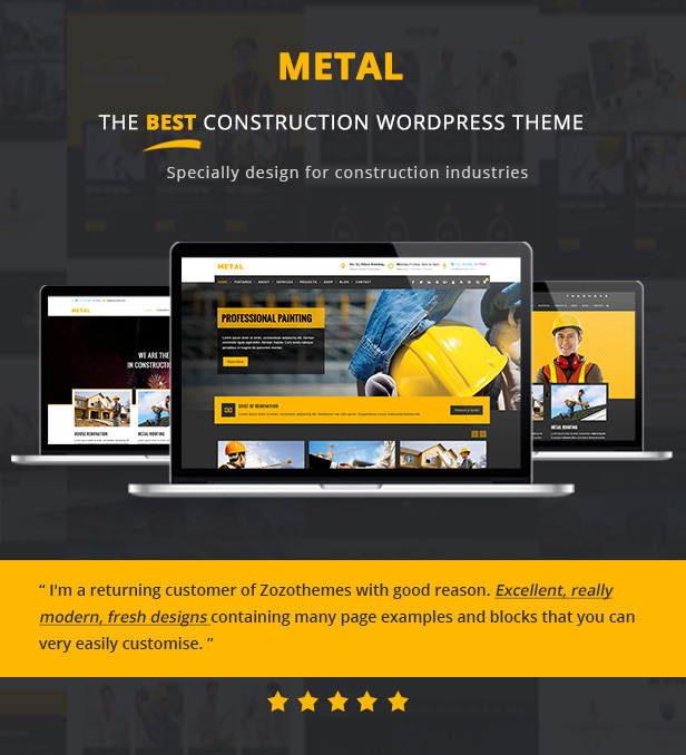 Metal - Building & Construction Business Themes