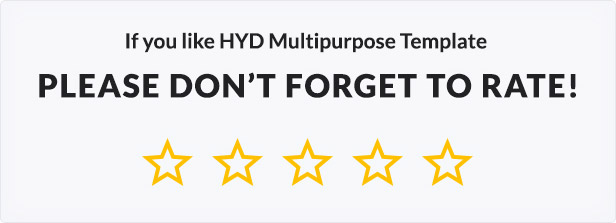 HYD - Multi-Purpose One Page Template