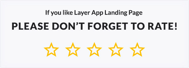 Layer - Responsive App Landing Page