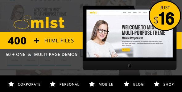 Mist - Multi-Purpose Responsive HTML Template