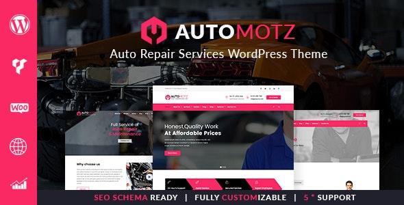 Automotz – Auto Repair Services WordPress Theme