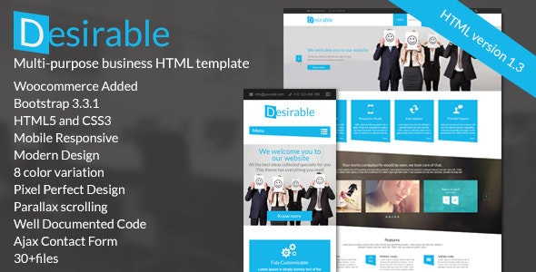 Desirable – The MultiPurpose HTML5 Business Template