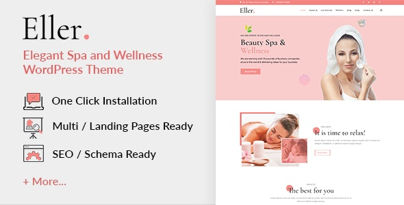 Eller – Elegant Spa & Wellness WordPress Theme