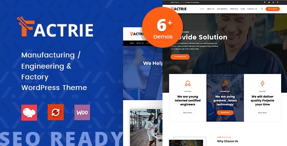 Factrie – Manufacturing, Industrial & Factory WordPress Theme