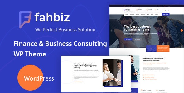 Fahbiz – Finance & Consulting WordPress Theme