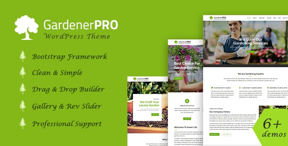 GardenerPro – Gardening & Lawn Care Landscaping WordPress Theme
