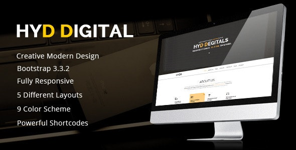 HYD – Multi-Purpose One Page Template