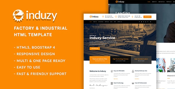 Induzy – Factory & Industrial HTML5 Template