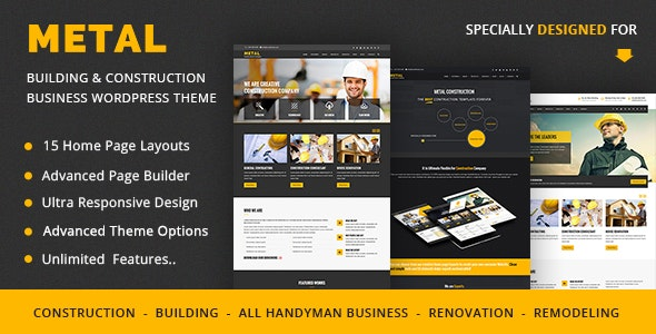 Metal – Building & Construction Business WordPress Theme