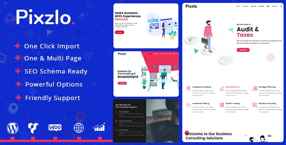 Pixzlo – Creative WordPress Theme for Professionals