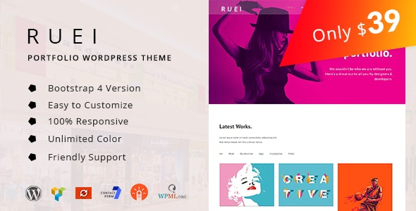 Ruei – Creative Portfolio WordPress Theme