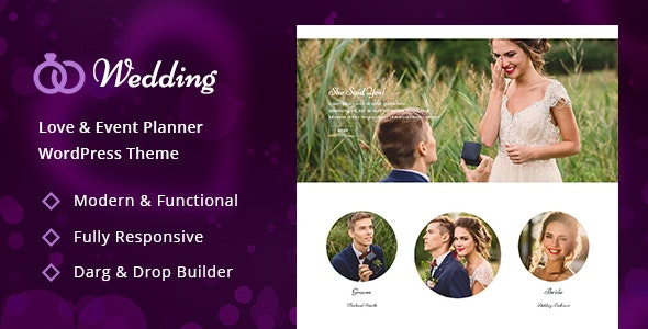 Wedding – Engagement & Marriage Planner WordPress Theme