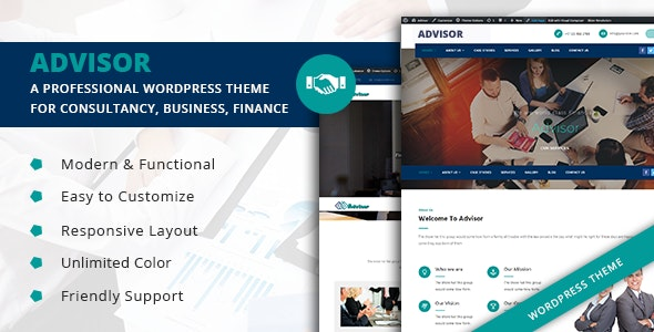 Advisor – Startup Business & Digital Marketing WordPress Theme
