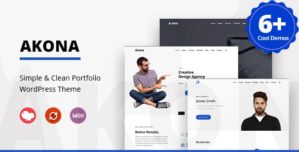 Akona – Multipurpose Portfolio WordPress Theme
