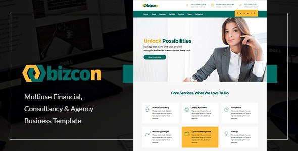 Bizcon | Responsive Multi-purpose HTML5 Template