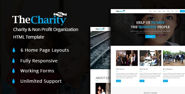 The Charity – Fundraising & Non Profit Organization HTML5 Template