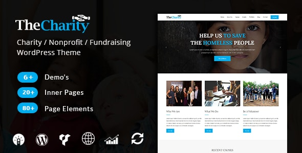 The Charity – Nonprofit & Fundraising WordPress Theme