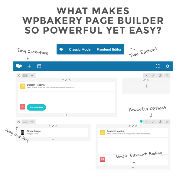 WPbakery   of Easy Editing and Customization