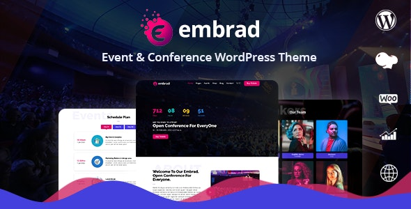 Embrad – Event & Conference WordPress Theme