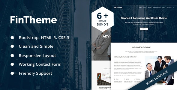 Fintheme – Finance & Consultancy HTML5 Template