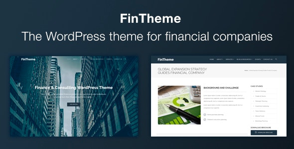 FinTheme – Finance & Consultants WordPress Theme