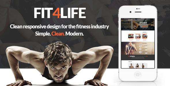 Fit4Life - Gym & Fitness PSD Template