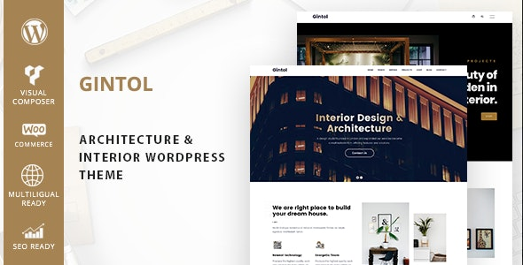 Gintol – Interior And Architecture WordPress Theme