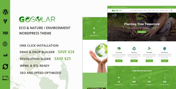 GoSolar – Eco Environmental & Nature WordPress Theme