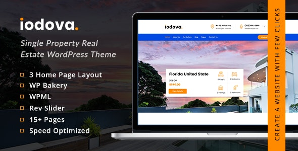 Iodova – Single Property Real Estate WordPress Theme