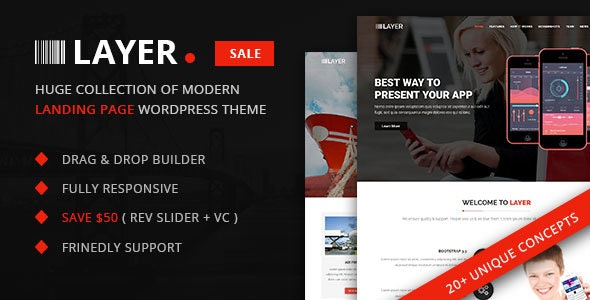 Layer – SaaS & Startup Landing Page WordPress Theme