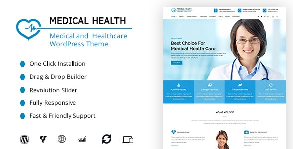 MedicalHealth – Doctor & Healthcare Clinic WordPress Theme