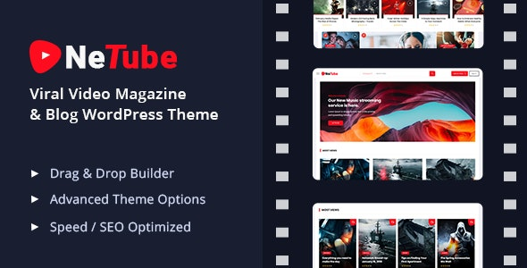 Netube – Viral Video Blog / Magazine WordPress Theme