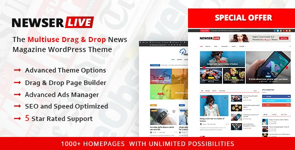 Newser – Newspaper & Magazine WordPress Theme