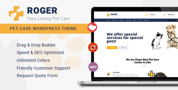 Roger – Pet Care WordPress Theme