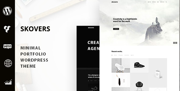 Skovers – Minimal Portfolio WordPress Theme