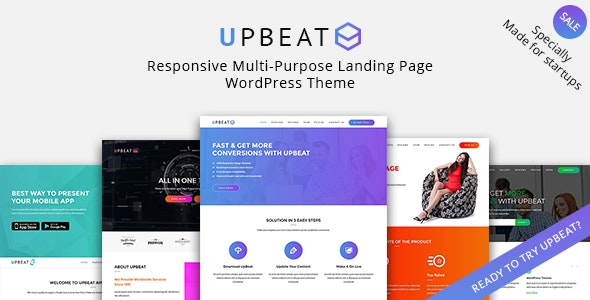 Upbeat – Multi-Purpose Landing Page WordPress Theme