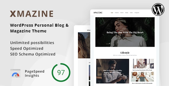 Xmazine – Personal Blog & Magazine WordPress Theme