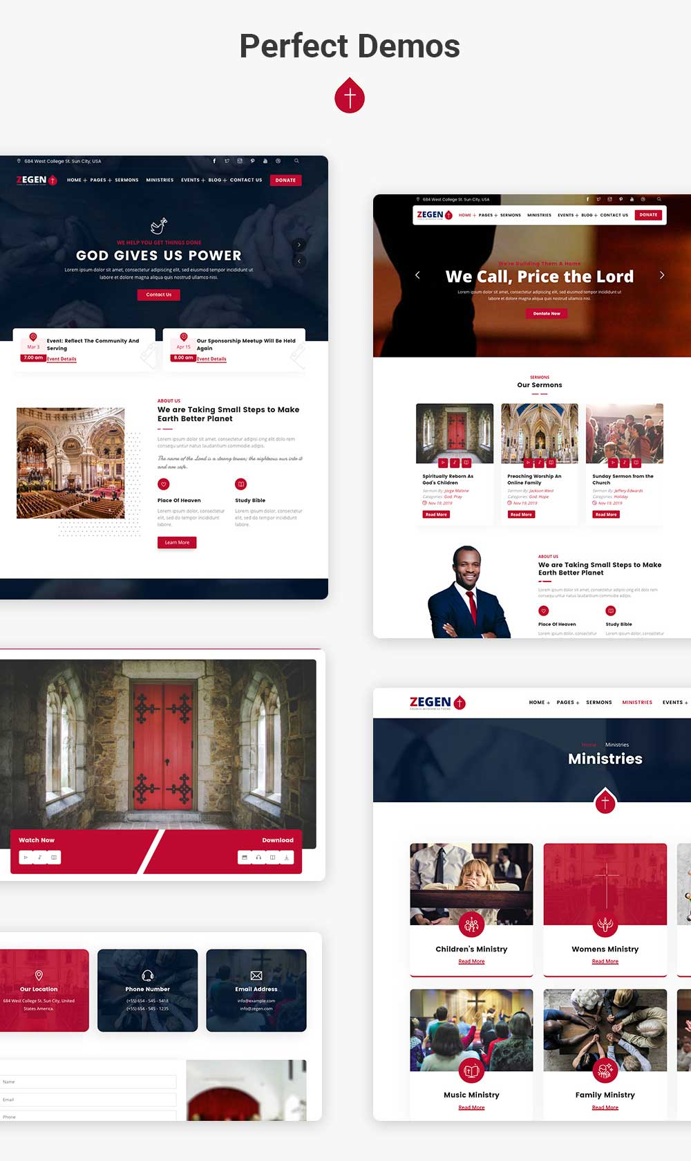 Clean and simple Church WordPress Theme