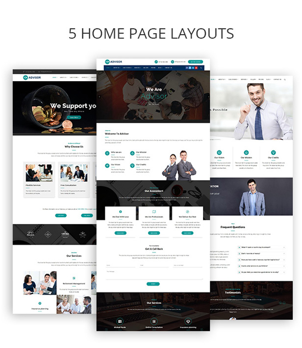 Multiple home demos for Digital Marketing WordPress Theme