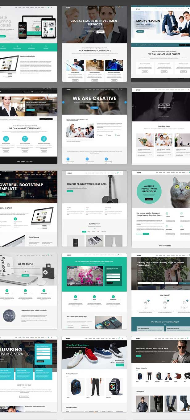 Multiple home Variation demo pages for Multipurpose WordPress Theme