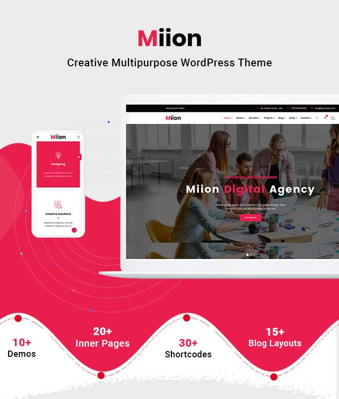 Pre-build page for Multi-Purpose WordPress Theme