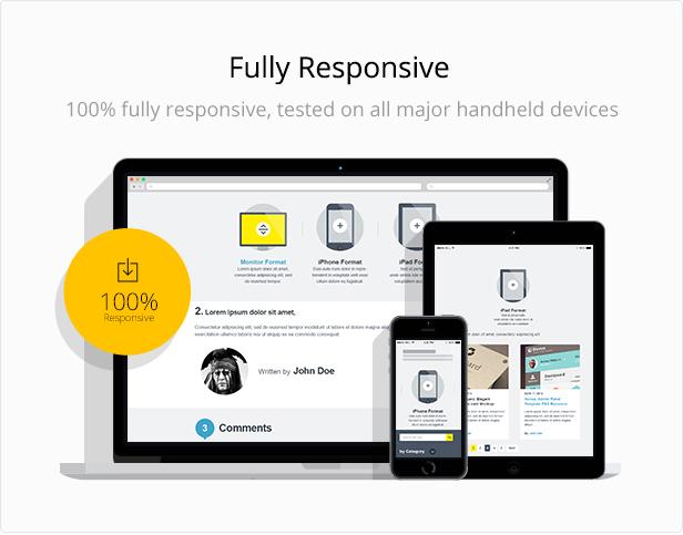 Fully responsive image for mist multipurpose html template