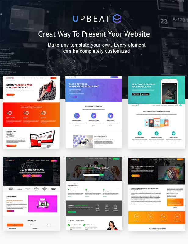 Multiple home Variation demo pages for Landing Page WordPress Theme