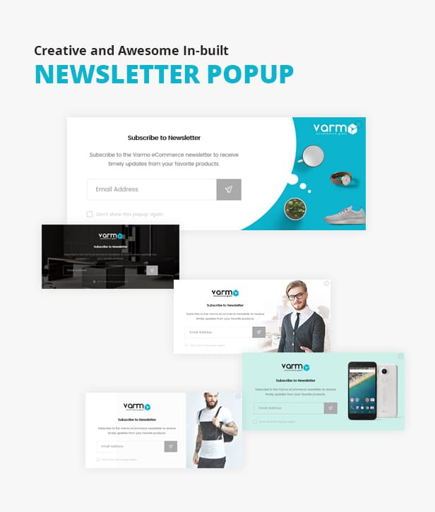 Newsletter popup for Varmo Magento Theme