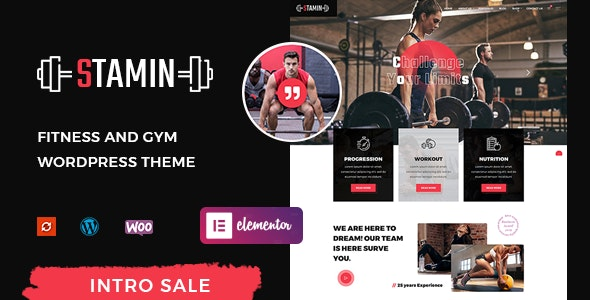 Stamin – Fitness and Gym WordPress Theme