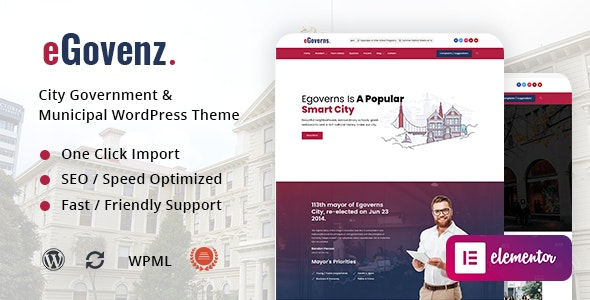 eGovenz – City Government WordPress Theme