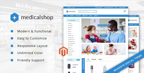 MedicalShop – Pharmacy and Drug Store Magento Responsive Theme