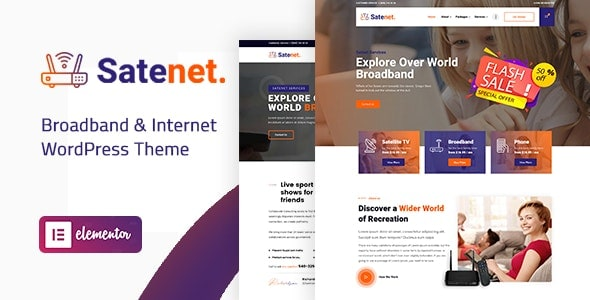Satenet - Broadband & Internet WordPress Theme Preview image