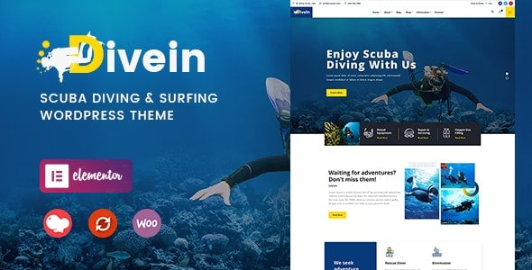 Divein – Scuba Diving & Surfing WordPress Theme